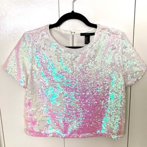 Sequin Holographic Top